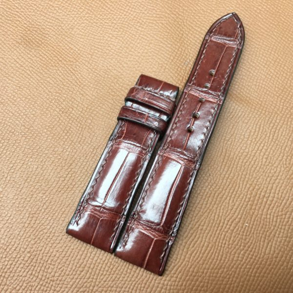dây đồng hồ cá sấu handmade